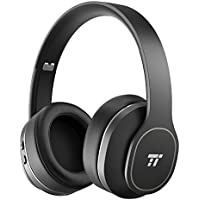Active Noise Cancelling Headphones, TaoTronics [BH047 Upgrade] Wireless Bluetooth Headphones Over Ear with 24 Hrs playtime Foldable Soft Protein Ear Pads Design for Travel Work TV PC Cellphone