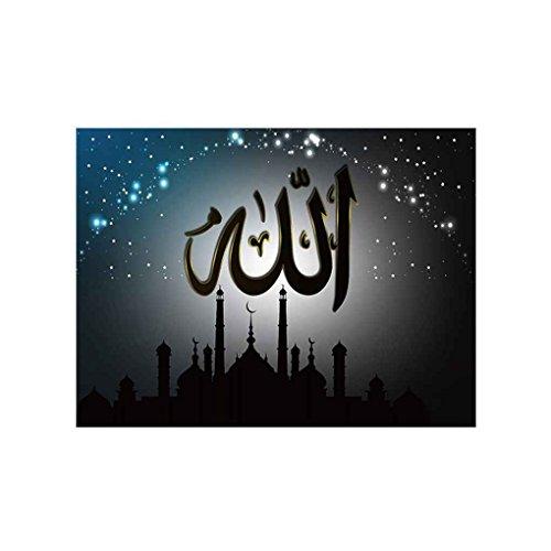 Royalr Leinwand Öl Gemälde Zeichnung arabische Kalligraphie Islamisches Symbol Bild Poster Sofa Hintergrund Wandaufkleber