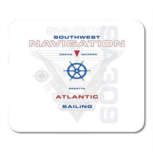 Deglogse Gaming-Mauspad-Matte, Atlantic Blue America Marine and Sailing Design and Idea American Badge Mouse Pad,Desktop Computers Mouse Mats, Atlantic Marine-elektronik