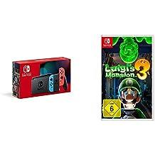 Nintendo Switch Konsole - Neon-Rot/Neon-Blau (neue Edition) + Nintendo Luigi's Mansion 3 - [Nintendo Switch]