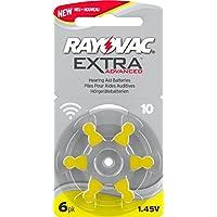 Rayovac tamaño 10 libre de mercurio - pilas para audífonos , 5 paquetes 6 células + batería libre del carrito