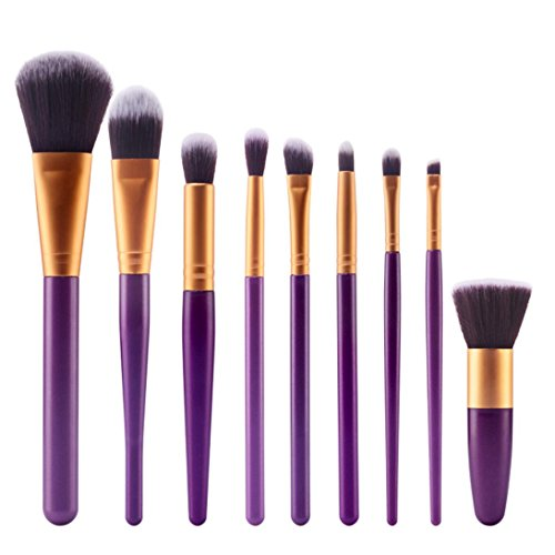 rosennie-9pcs-cosmetic-brush-makeup-brush-sets-kits-tools-gold-1