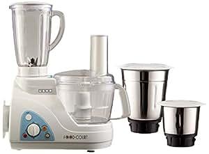 Usha Food Processor (2663) 600-Watt with 3 Jars (White)