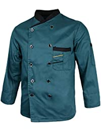Baoblaze Unisex Uniforme della Cucina per Cuoco Hotel Cappotto Pulsanti  Decora Giacche da Chef 7c9e44ef59b7