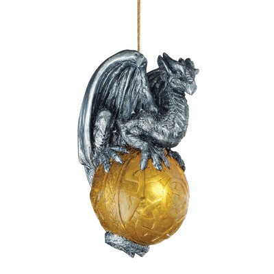 christmas tree ornaments protector of the gothic portal celtic dragon holiday ornament dragon statue