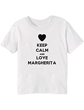 Keep Calm And Love Margherita Bambini Unisex Ragazzi Ragazze T-Shirt Maglietta Bianco Maniche Corte Tutti Dimensioni...