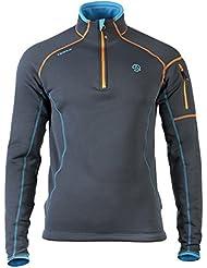 Men Ternua Kashmir 1/2 Zip camiseta/1205693-2109 de manga larga para hombre de manga larga, color - negro, tamaño S