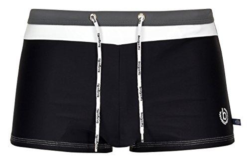 Bugatti® - Herren Badehose/Badepants in schwarz/weiß/grau, Größe L
