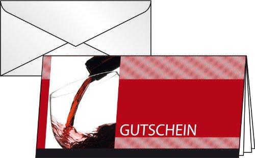 sigel-vino-rosso-dc404-gift-cards-with-transparent-envelopes-standard-long-size-pack-of-10-german-la