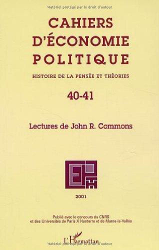 Cahiers d'économie politique 40-41 histoire de la pensee et theories