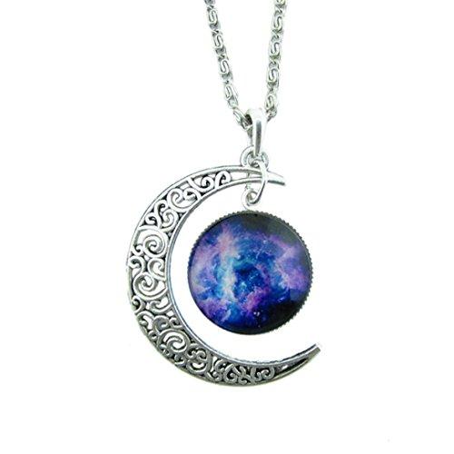 LHWY Antiguo Vintage Luna Tiempo Collar SuéTer Cadena Colgante Joyas