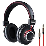 Over Ear Bluetooth Headphones Wireless Lightweight Headset - High End CSR8645 Chip Lossless Hi-Fi Stereo, Handmade Style Extra Comfortable and Stylish, Deep Bass Headset with Mic
