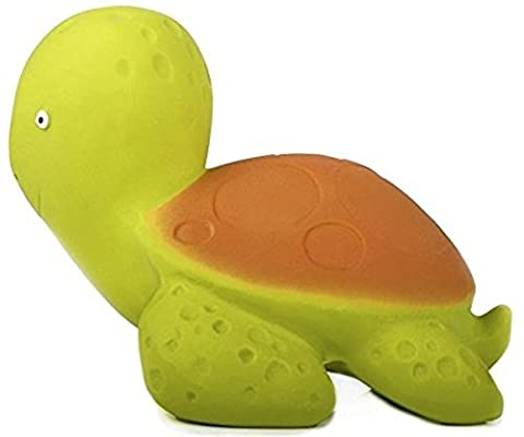 Mele la Tortue - Caoutchouc naturel jouet de bain - Certifiée non toxique: sans BPA, PVC, phtalate, nitrosamine et peinte à la peinture de qualité alimentaire