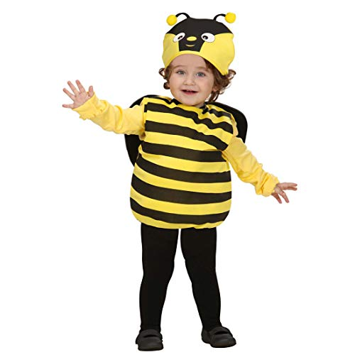 Honig Kostüm Babys Biene - Amakando Bienenkostüm Kinder Hummel Faschingskostüm 90-104 cm 1-3 Jahre Biene Kinderkostüm Bienen Kostüm Karnevalskostüm Baby Tierkostüm Bienchen Babykostüm