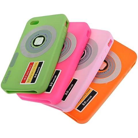 Elegante cámara digital DC Tipo de caja suave de silicona para iPhone 4.