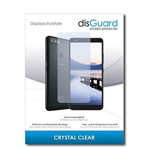 disGuard® Bildschirmschutzfolie [Crystal Clear] kompatibel mit Gigaset GS370 [2 Stück] Kristallklar, Transparent, Unsichtbar, Extrem Kratzfest, Anti-Fingerabdruck - Panzerglas Folie, Schutzfolie