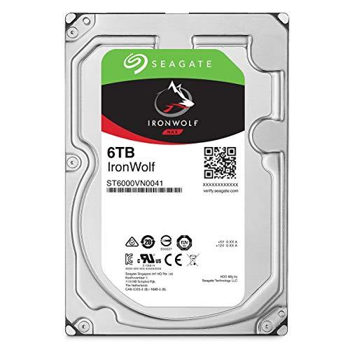 Seagate ST6000VNZ033 IronWolf Interne Festplatte (3, 5 Zoll/ 8, 9 cm, 6 TB, für 1 - 8 Bay) silberfarben (Seagate Personal Cloud)
