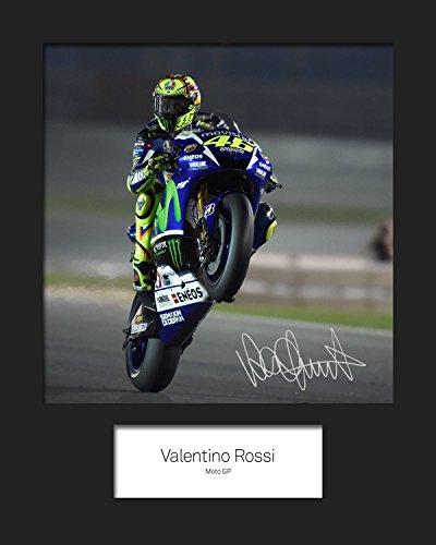 FRAME SMART Valentino Rossi #3 | Signierter Fotodruck | 10x8 Größe passt 10x8 Zoll Rahmen | Maschinenschnitt | Fotoanzeige | Geschenk Sammlerstück