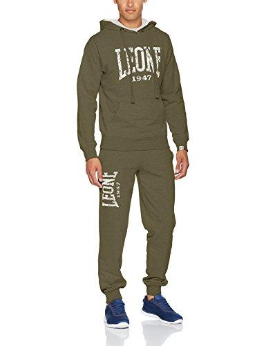 Leone 1947 apparel sport fight activewear lsm395, tuta uomo, verde, l