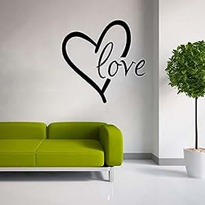 Extsud adesivo murales carta da parete diy scritta love for Carta da parete per camera da letto