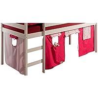 IDIMEX Rideaux Erik pour lit superposé ou lit surélevé cabane Tente, en  Coton 2 Couleurs 4d4e0adeb846