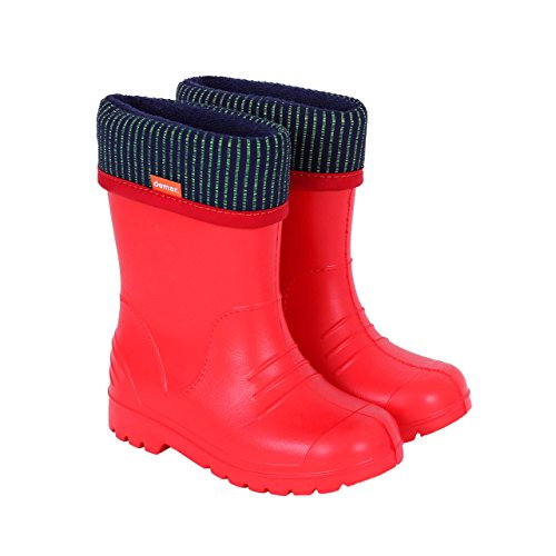 Demar Boys Girls Wellington Boots Rain Snow Wellies EVA Warm Liners