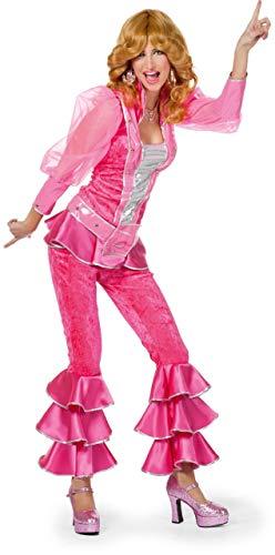 Kostüm Disco Jahre 70er Queen - Damen Kostüm 70er Jahre Disco Queen in pink Karneval Fasching Gr.36