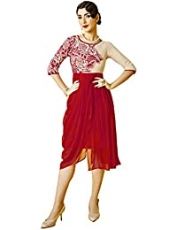 Lords Multi Georgette Stitched Embroidery With Embroidery Kurti