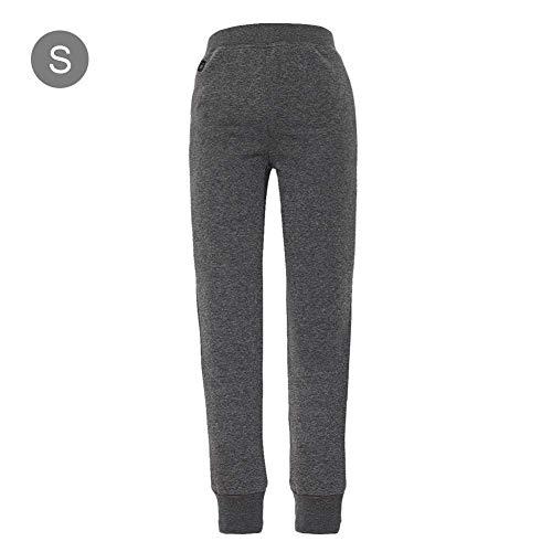 Queta - Pantalones de Mujer con calefacción por USB para Deportes de Invierno (Talla S-XXXL), Color Gris Plateado Plateado Plata XXL