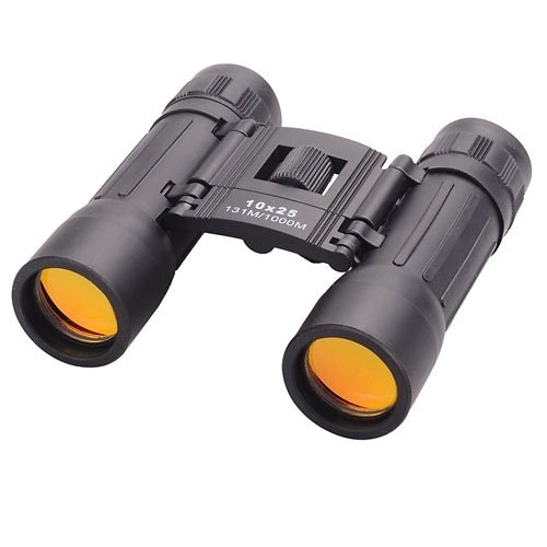 Tiny Deal Compact 10X25 Mini Binoculars Telescope Sports Hunting Camping Survival Kit - Black