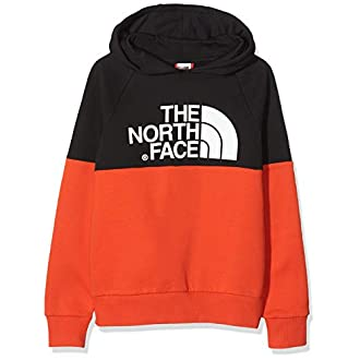 The North Face Drew Peak Raglan Sweat-Shirt Mixte Enfant, Rouge (Fiery Red/TNF Black), S