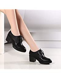 SSBY El Periodo De Primavera Y Otoño Nueva Inglaterra Corbata Profundo Grueso Con Zapatos Zapatos Con Las Chicas...