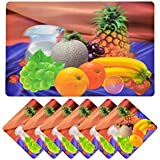 Style Your Home Dining Table Mats/Kitchen Placemats/Table Mats With Coasters,11 By 16 Inches Table Mats With 6 Cup Coasters 4 X 4 Inches (Set Of 6 + 6 Pcs)