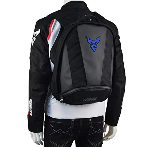 Youngsown Zaino da Moto Impermeabile - Zaino Casco Tessuto Oxford Zaino da Moto Uomo per Sport all'Aria Aperta 33 22 45 cm