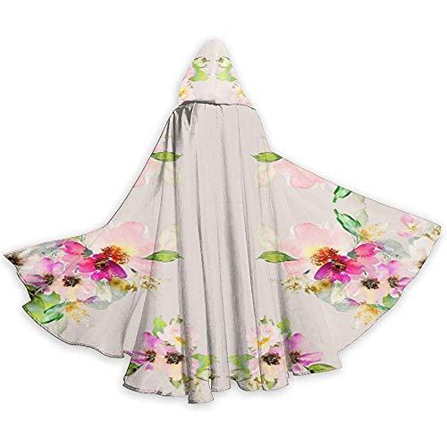 Women's Kostüm Eagles - Mitta Yane Hooded Cape Kostüm Ganzkörperansicht 2 'Kalani Blooms (175) Kapuzenkostüme