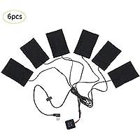 Forestwood 6-in-1 USB elektrische Heizkissen Kleidung Heizkissen 3 Gang Einstellbare Kohlefaser beheizte Kleidung... preisvergleich bei billige-tabletten.eu