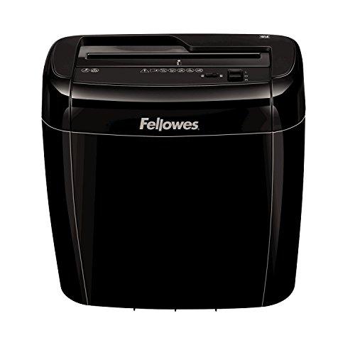 Fellowes 4700401 Aktenvernichter 36C, 6 Blatt Partikelschnitt P-4 mit Sicherheitsstopp-Schalter für Zuhause