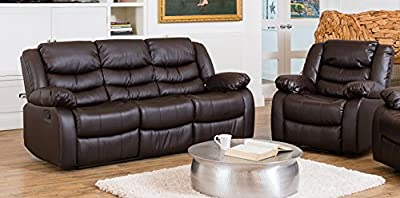 Windermere Luxury Leather Recliner Sofa Suite - Different Configurations and 3 Colours Available (Brown, 3+1 Seat Sofa Suite)