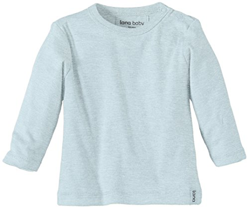 LANA natural wear GmbH Lana Natural Wear Unisex - Baby T-Shirt Jule, Einfarbig, Gr. 50/56, Blau (Blue Air 516)