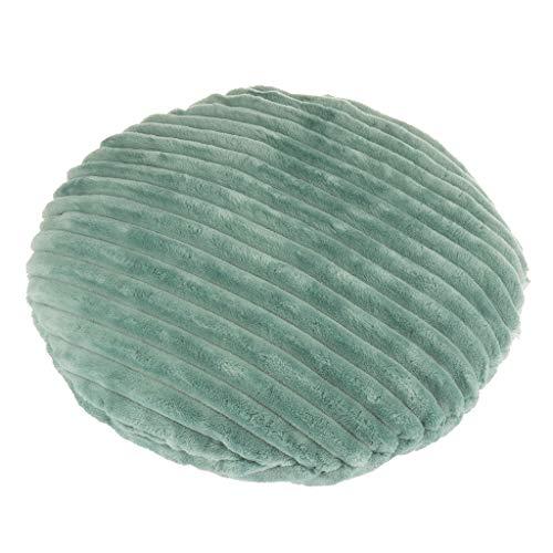 Funda de Cojín de Asiento Cubierta de Silla Forma de Redonda para Protección Muebles 40 cm - Verde