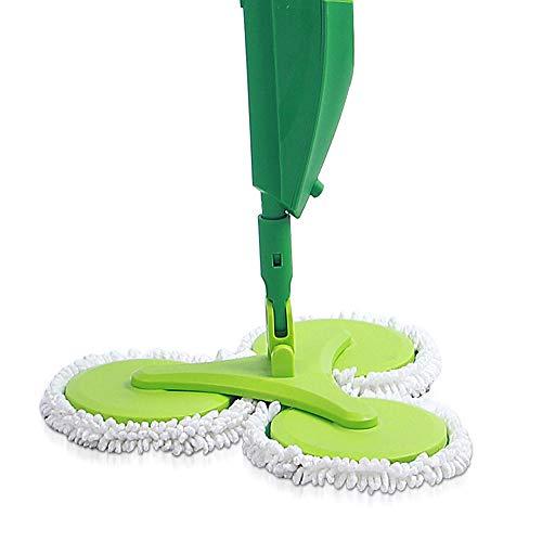 GJ@ + Spruzzatore A Tre Mani Tondo Piano Lavapavimenti A Mano Mop A Mano A Secco E Acqua A Secco. Rotazione A 360 Gradi Cucina, Camera da Letto Disponibile ## (Colore : Green)