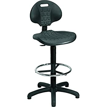 Office Hippo Laboratory Factory Chair With High Rise Static Draughtsman Extension Kit Black