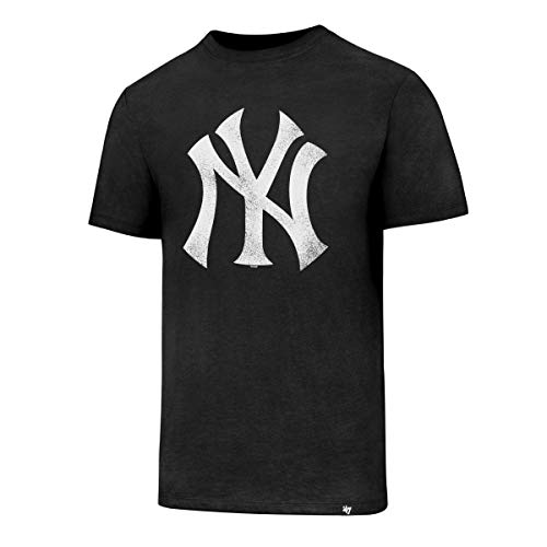 47 brand - Nnew york yankees mc noir - Tee shirt manches courtes - Noir - Taille M