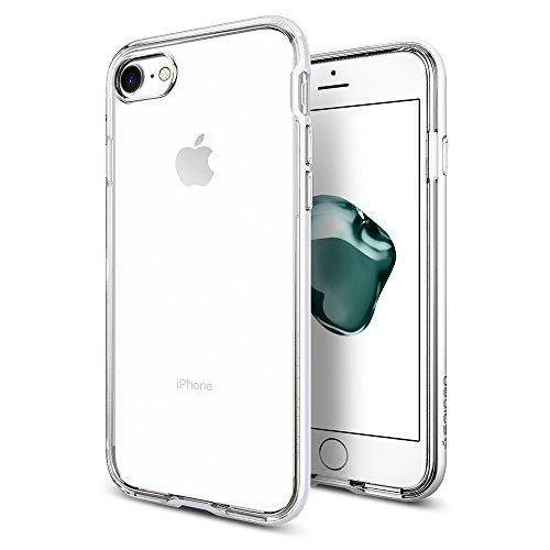Coque iPhone 7, Spigen [Neo Hybrid Crystal] PREMIUM BUMPER [Or] Clear TPU / PC Frame Slim Dual Layer Premium Coque iPhone 7 (2016) - (042CS20521) NHC Jet White