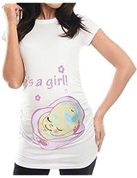 Cinnamou Premamá Camisa de Embarazo de Maternidad Linda d1753fb22dc1