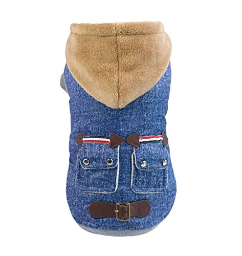 Lisay Cowboy Kostüme Vier Beine Coat Welpen Jeans Pullover Soft Warm Pet Puppy Dog Clothes Small Puppy Style Girls Princess Fancy Dress Costume ()