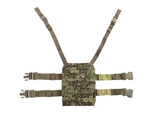BE-X Beinplatte für modulare Taschen  MOLLE mit Schnelltrennsystem - PenCott Greenzone