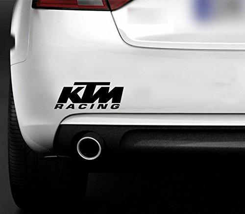 Pegatinas KTM Racing para el parachoques o la ventana, de enduro, Bike MX, carreteras, ciclismo, divertida, para furgonetas, coches o barcos, de vinilo