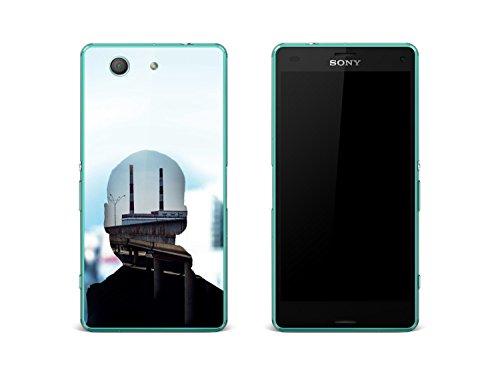 Custodia cover Sony Xperia Z3 Compact | Pellicola adesiva pellicola antigraffio pellicola protettiva - pellicola adesiva trasparente | Motivo Kopfkino