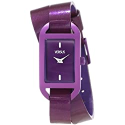 Versus Ibiza Purple Dial Purple Leather Ladies Armbanduhr SGQ060013